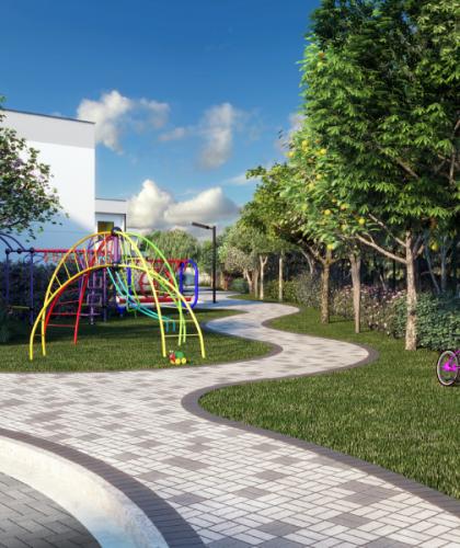 3D - Área de caminhada 1 Parque
